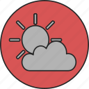 cloud, cloudy, forecast, sun, weather icon