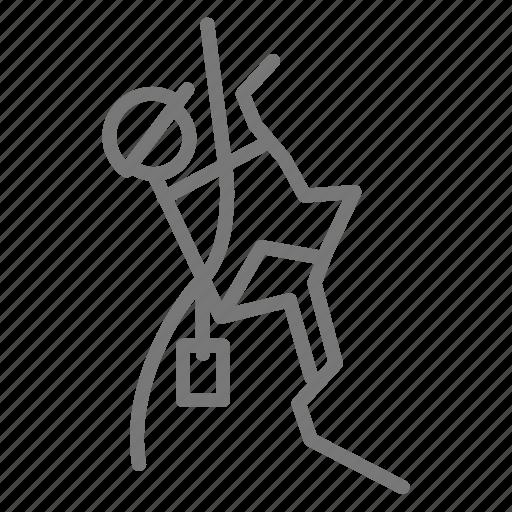 belay, chalk, climb, lead, park, rock, rope icon