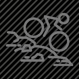 bike, cycle, downhill, mountain, national park, rock, trail icon