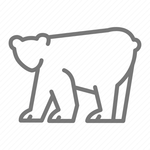 animal, bear, brown, grizzly, mammal, national, park icon