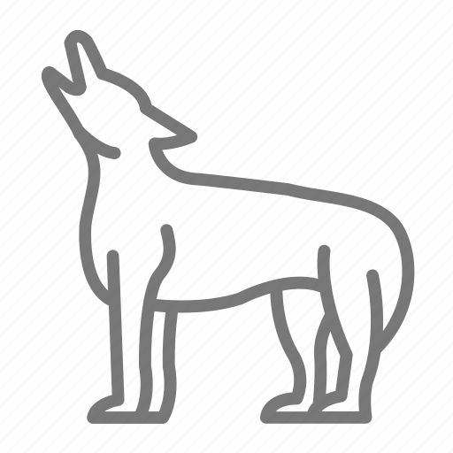 animal, coyote, howl, pack, wolf icon