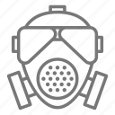 gas mask, mask, police, tear icon