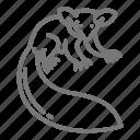 animal, aye-aye, primate, rainforest icon