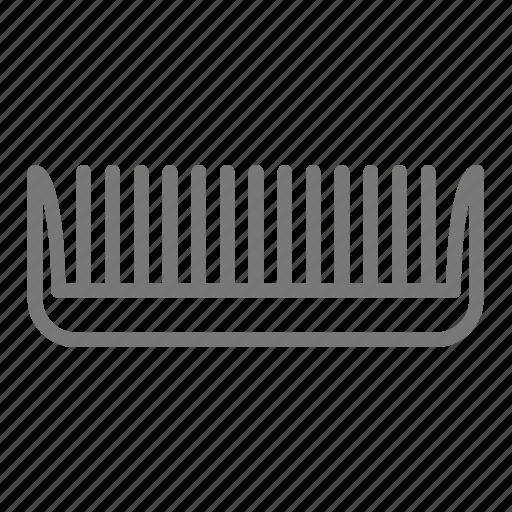 comb, hair, plastic, salon icon