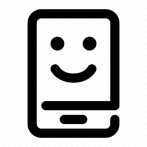 emotion, expression, face, happy, mobile, smartphone, smile icon