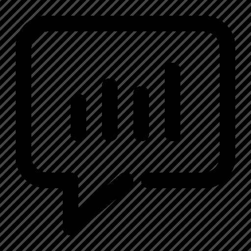 analytics, bubble, chart, chat, graph, message, statistics icon