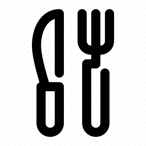 Fork, knife, cutlery, kitchen, restaurant icon - Download on Iconfinder
