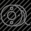 bobbin, sew, thread icon