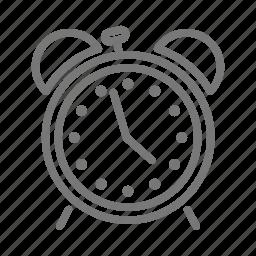 alarm, analog, bell, clock, snooze, ticktock, time icon
