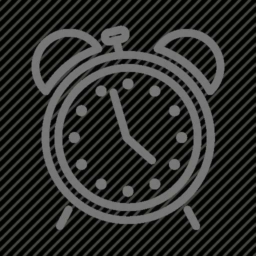 alarm, analog, bell, clock, snooze, ticktock icon