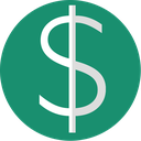currency, dollar, euro, finance, green, minimal icon