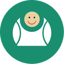 contact, fat, fun, green, laugh icon