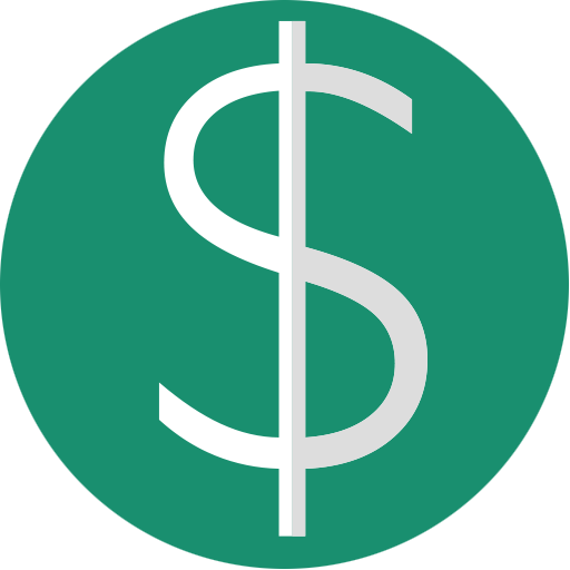 Currency, dollar, euro, finance, green, minimal icon ...