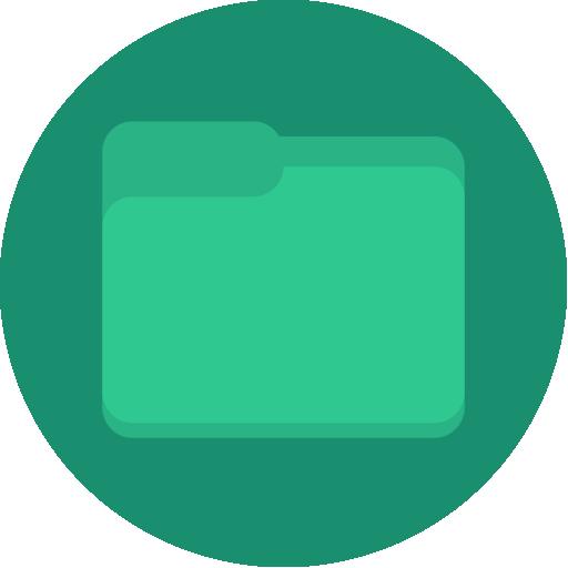 file, filemanager, folder, green, minimal icon