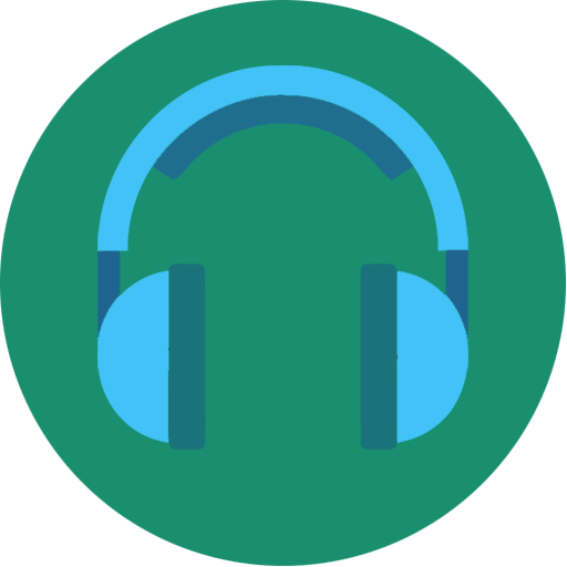 blue, headphone, headset, media, music, song, songs icon