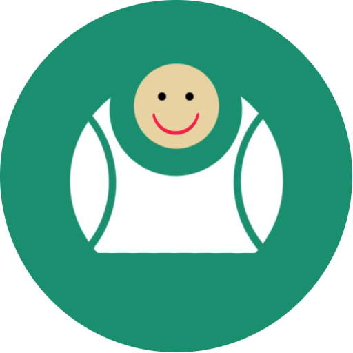 big, contact, fat, fun, green, laugh icon