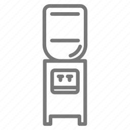drink, filter, fountain, office, water, water cooler icon