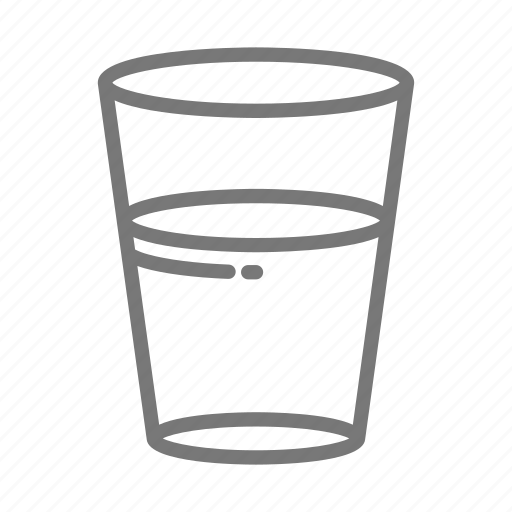 clean, cup, drink, glass, thirsty, water icon