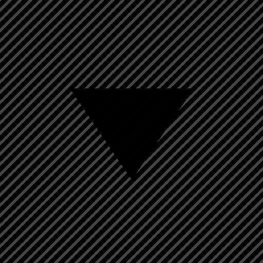 arrow, down, scroll icon
