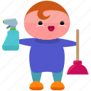 avatar, cleaner, cleaning, person, profile, user