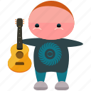 avatar, guitar, musician, person, player, profile, user icon
