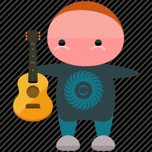 avatar, guitar, musician, person, player, profile, user icon