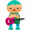 avatar, character, guitarist, person, profile, user