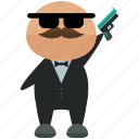 avatar, gun, gunman, person, profile, user