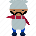 avatar, character, chef, jerome, person, profile, user