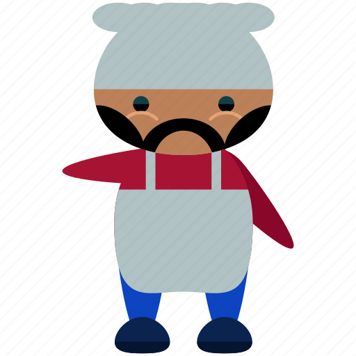 avatar, character, chef, jerome, person, profile, user icon