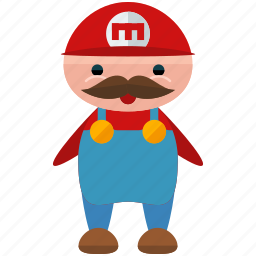 avatar, character, gaming, mario, person, profile, user icon