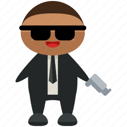 agent, avatar, gun, man, person, profile, user icon