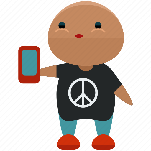 avatar, character, man, mobile, person, phone, profile icon