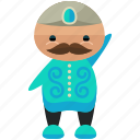 avatar, man, moustache, person, profile, user icon