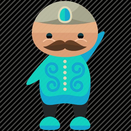 avatar, man, moustache, person, profile, user icon