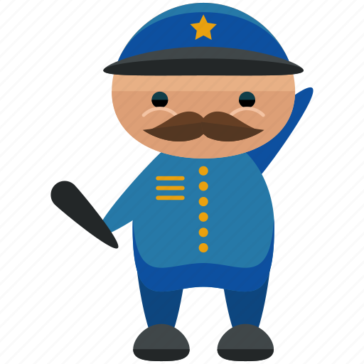 avatar, man, officer, person, police, profile, user icon