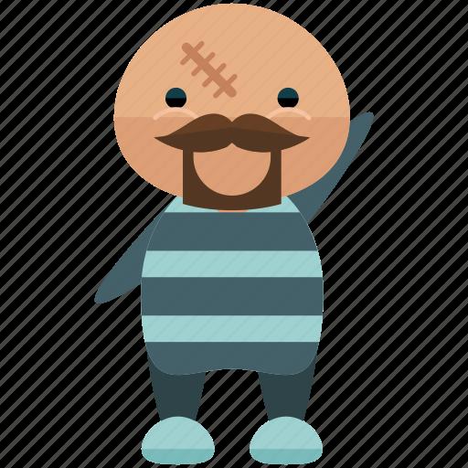 avatar, criminal, person, prisoner, profile, user icon