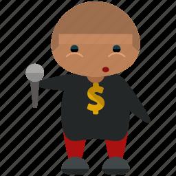 avatar, microphone, person, profile, rapper, user icon
