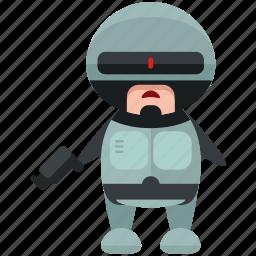avatar, character, cop, person, profile, robocop, user icon