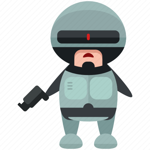 avatar, character, cop, person, profile, robocop, user icon
