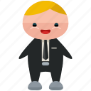 avatar, business, man, person, profile, suit, user