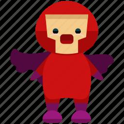 avatar, cape, hero, person, profile, super, user icon