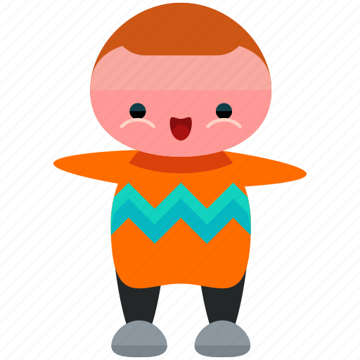 avatar, man, person, profile, sweater, user icon