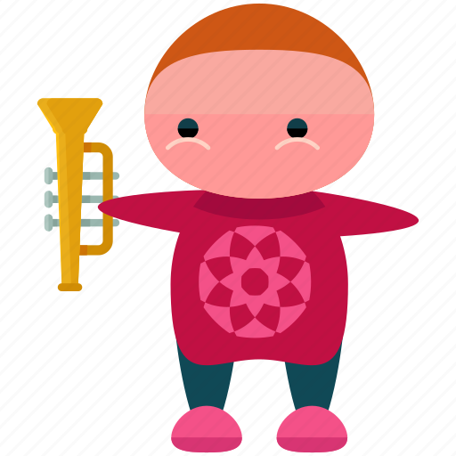 avatar, character, man, person, profile, trumpet, user icon