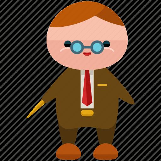avatar, person, professor, profile, user, vintage icon