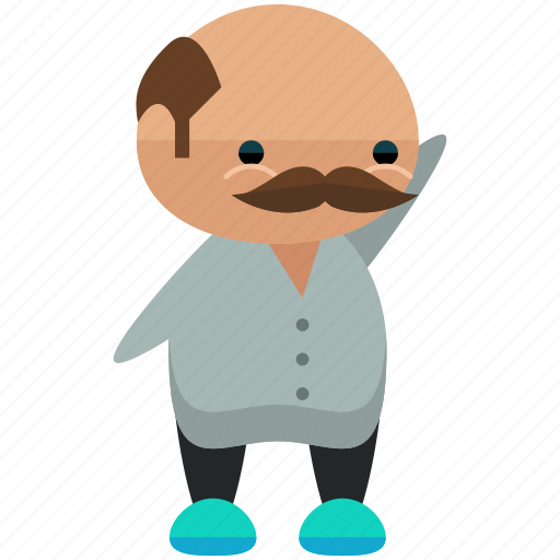 Avatar, man, moustache, person, profile, user, waving icon - Download on Iconfinder