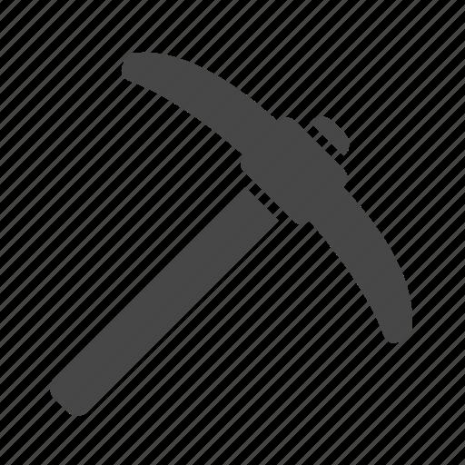 coal, gold, hammer, mining, pickaxe, tool icon