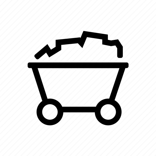 cart, mining icon