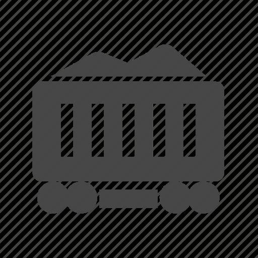 cart, coal mining, industry, mine, mine cart icon