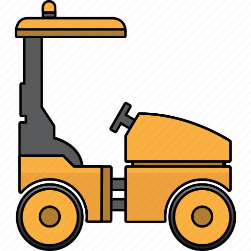 compactor, construction, earth mover, equipment, machinery, mining, mining vehicles icon